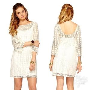 LILLY PULITZER cream Topanga crochet dress, M.